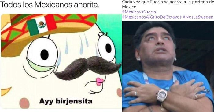 Los mejores memes del agónico pase de México luego de perder ante Suecia