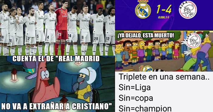 Los MEMES hacen pedazos Real Madrid goleado y eliminado de la Champions