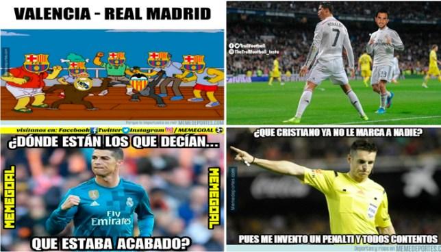 Los divertidos memes del triunfo del Real Madrid sobre el Valencia