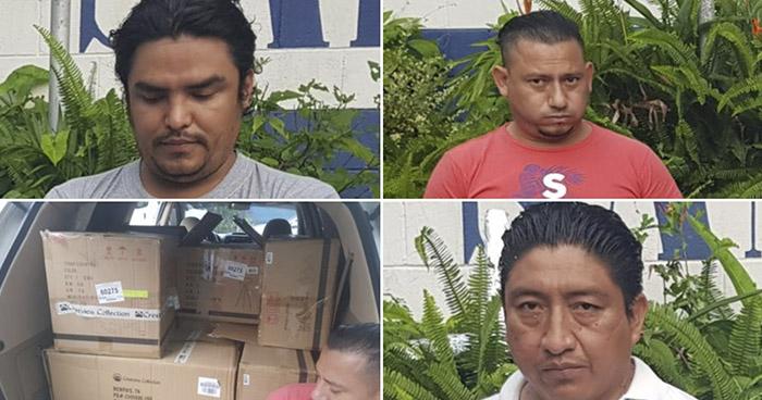 Capturados con mercancía producto de hurto en San Salvador