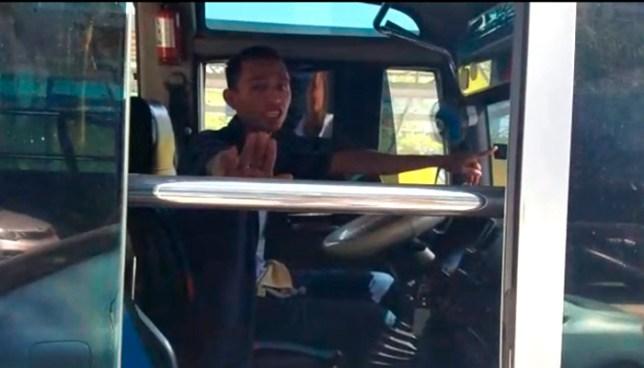 Usuaria denuncia a motorista de la ruta 41-G por botarla cuando se bajaba del microbús