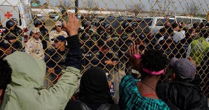 1,600 migrantes centroamericanos buscan entrar a Estados Unidos por Piedras Negras, México