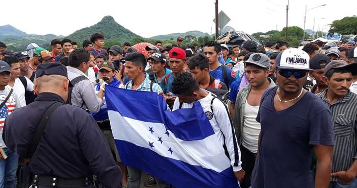 Personas procedentes de Honduras pretenden ingresar a El Salvador sin documentos