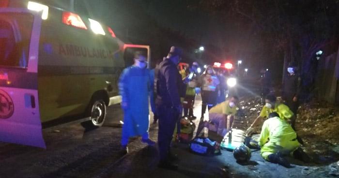 Motociclista ebrio lesionado tras chocar en calle a Mariona