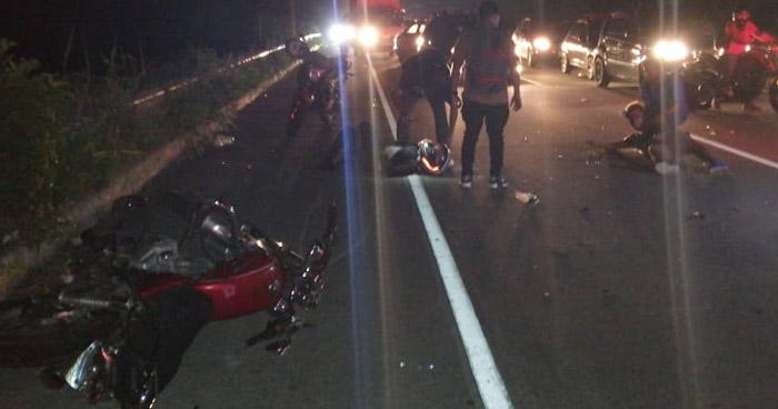 Dos lesionados tras fuerte accidente cerca del Redondel Integración