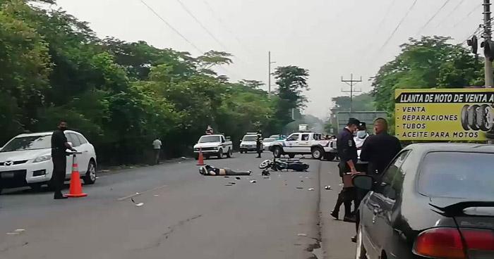 Motociclista muere al accidentarse en carretera de San Miguel