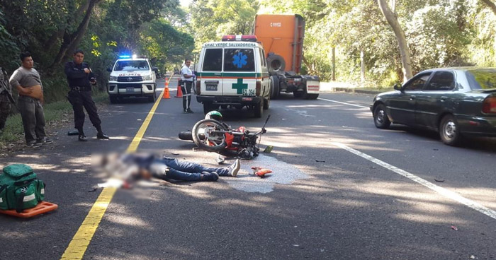 Motociclista muere tras sufrir accidente de tránsito en carretera a Santa Ana