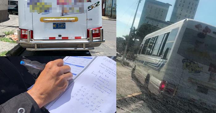 Ubican a motorista que se subió a la acera del Salvador del Mundo y le decomisan su permiso de conductor