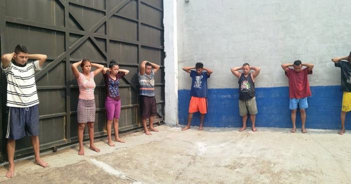 Capturan a 8 miembros de la MS que operaban en el oriente del país