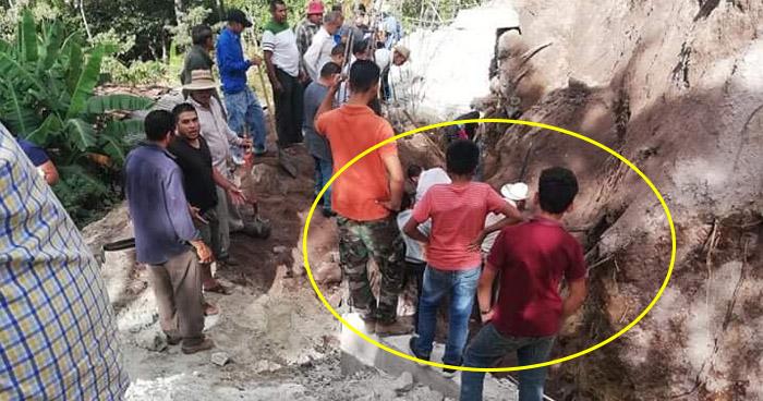 Colapsa un muro y mata a una persona en Polorós, La Unión