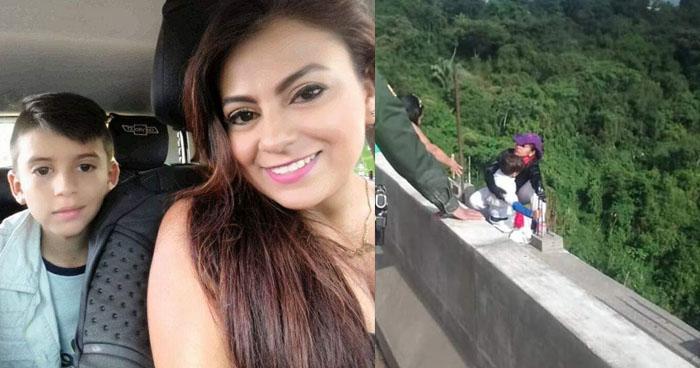 VIDEO | Mujer se lanza desde un puente junto a su hijo en Colombia