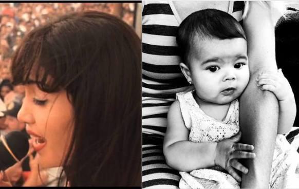 La nieta de Bárbara Mori ya canta canciones de Selena