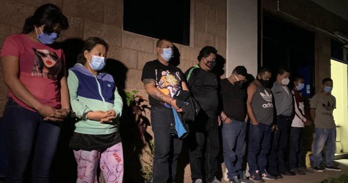 Dos palabreros de la MS y un traficante de personas entre capturados en operativo