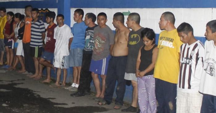 Capturan a 31 pandilleros durante operativo en Sonsonate