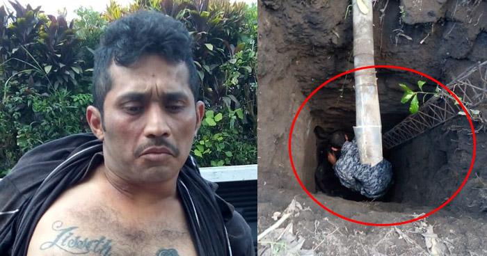 Encuentran a pandillero escondido en agujero en Lourdes, Colón
