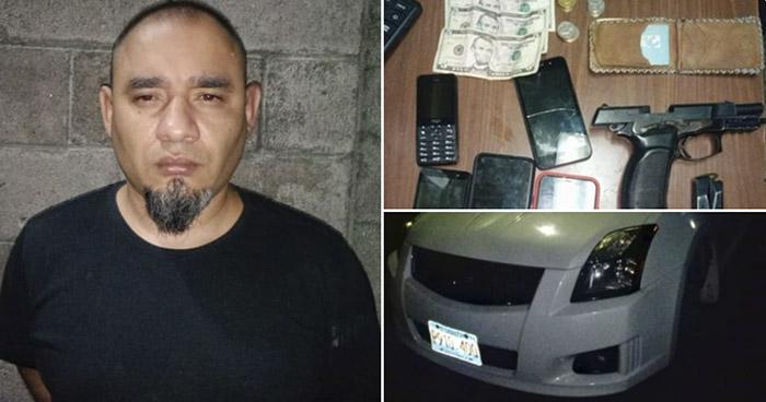 Capturan a pandillero armado en San Salvador