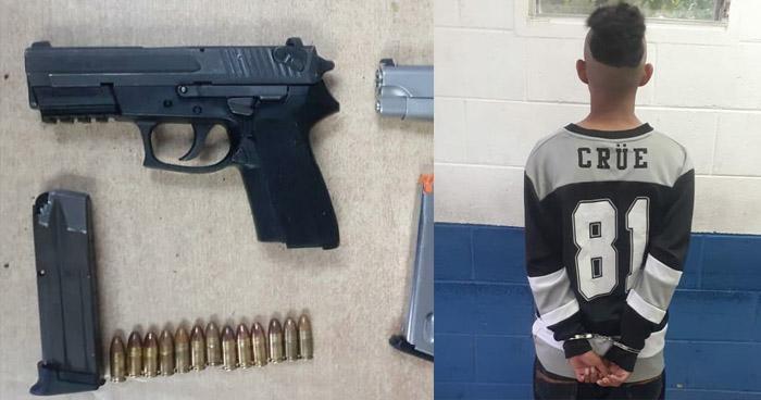 Incautan armas a pandillero menor de edad en Soyapango