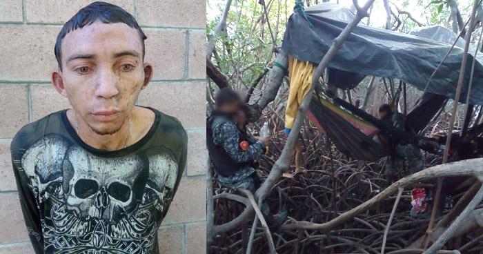 Pandillero buscado por el homicidio se un policía se escondía en manglares de La Unión