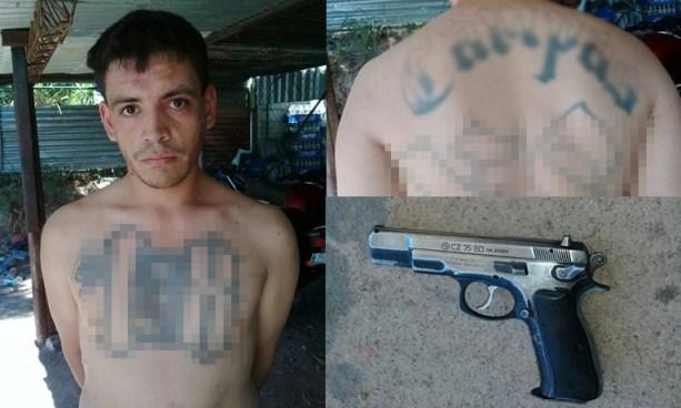 Capturan a un pandillero en Soyapango y le incautan un arma de fuego