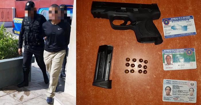 Pandillero salvadoreño con licencia para portar armas fue capturado en Guatemala