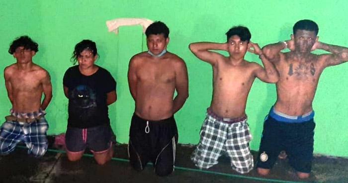 Capturan a 6 miembros de la pandilla 18 en Usulután