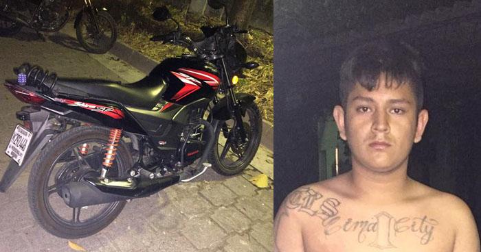 Capturan a pandilleros que tenían en su poder una motocicleta robada en San Martín