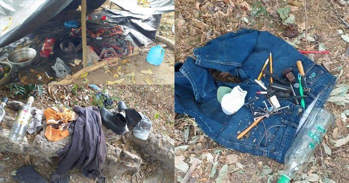 Desmantelan campamento de pandilleros en Olocuilta