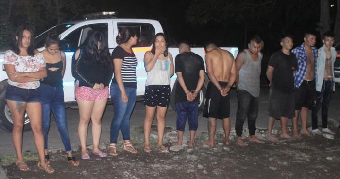 Un cabecilla y 11 pandilleros capturados tras atacar a policías en Sonsonate
