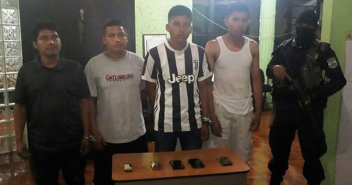 Pandilleros de la MS fueron capturados en cantón de Nahuizalco, Sonsonate