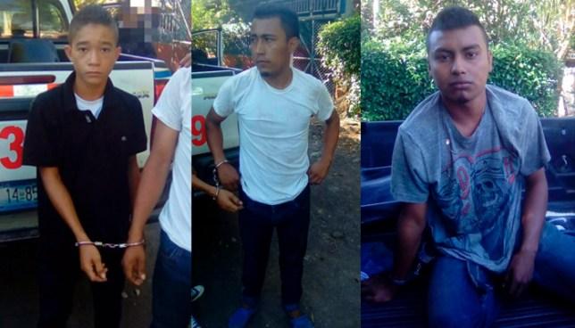 Tres pandilleros que vigilaban desde un campamento en Acajutla son capturados por la PNC