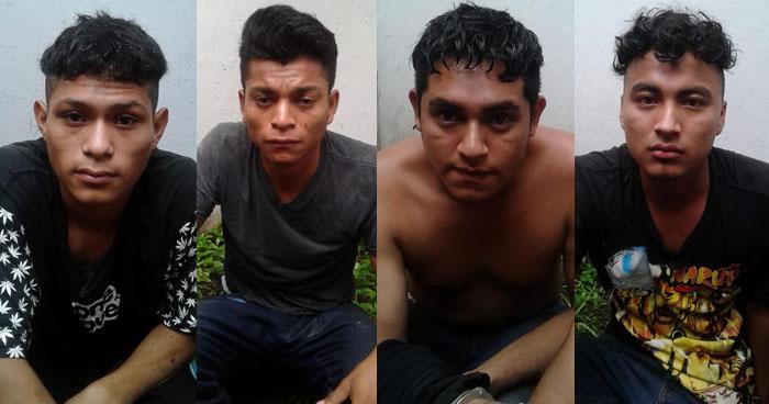 Cuatro pandilleros armados capturados en Ciudad Delgado