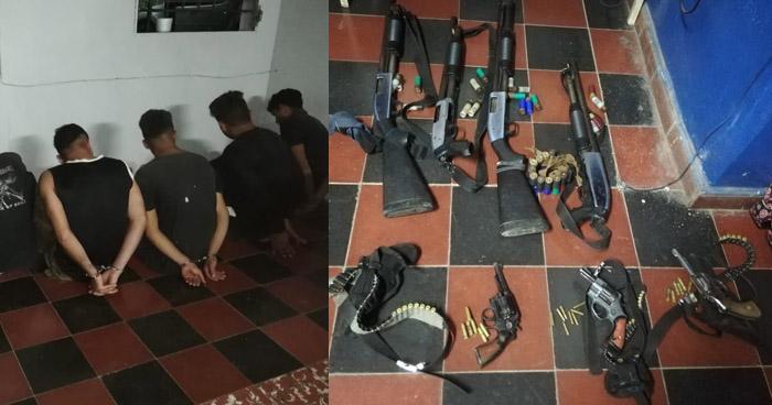 Detienen a 6 supuestos pandilleros armados en San Nicolás Lempa, San Vicente