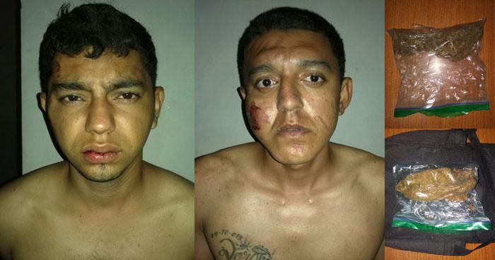 Incautan bolsas con droga a dos sujetos en Barrio San Jacinto de San Salvador