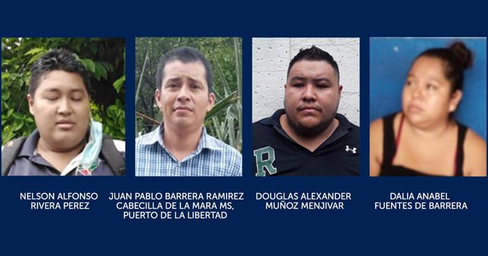 Capturan a 4 pandilleros por Lavado de Dinero y Activos