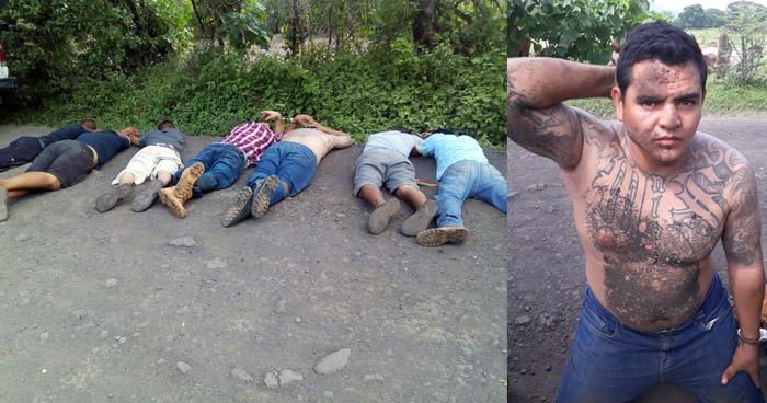 Dos cabecillas, entre los 7 pandilleros capturados esta tarde en Sonsonate