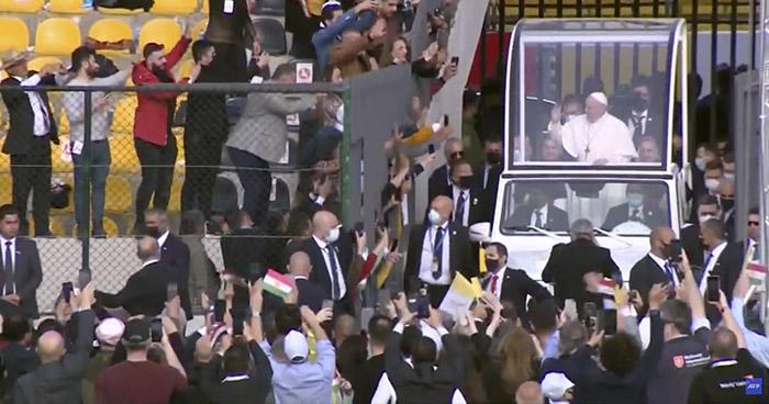 El papa concluye su histórica visita en Irak