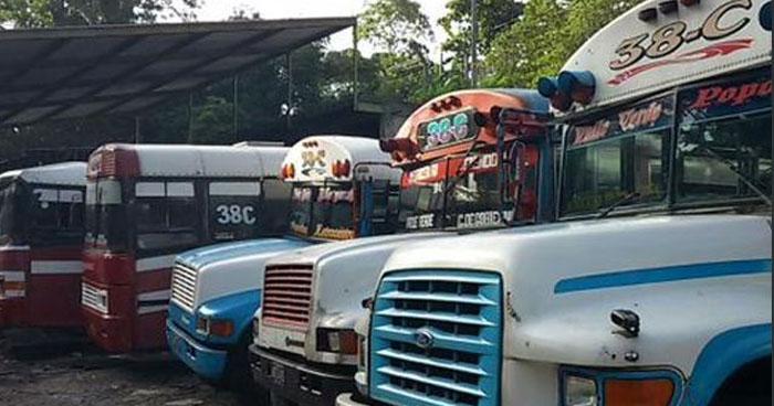 Ruta de buses 38-C amanece en paro de labores por amenazas de pandillas
