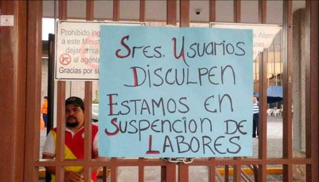 Sindicalistas del Ministerio de Gobernación inician paro administrativo de labores a nivel nacional
