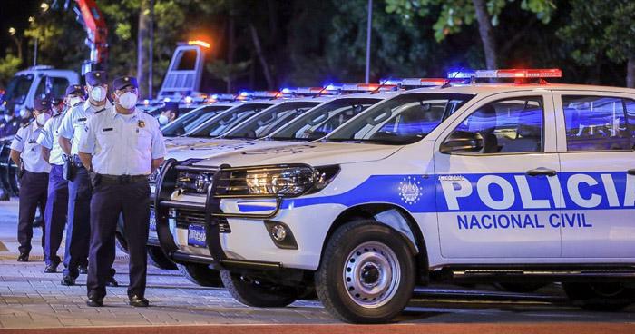 Entregan 43 nuevas patrullas a la Policía Nacional Civil