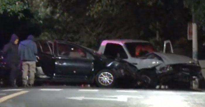 Persecución de pandilleros en vehículo robado terminó en accidente de tránsito