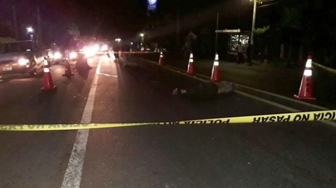 Un anciano murió tras ser atropellado por un vehículo en Bulevar Palmeras de Sonsonate