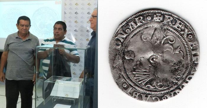 Arqueólogos encuentran un Real de Plata en la antigua villa de San Salvador