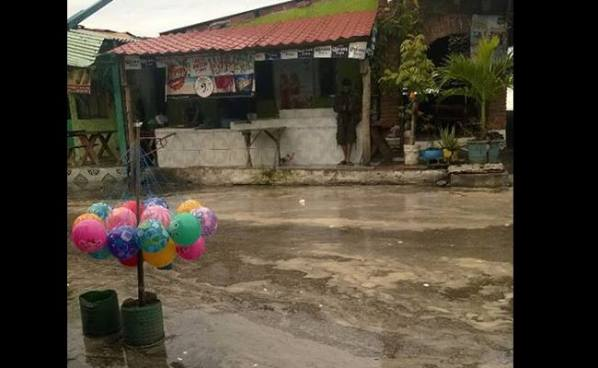 Incremento de oleaje genera inundaciones en la playa el Majahual