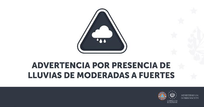 Protección Civil emite aviso por lluvias con vientos y actividad eléctrica