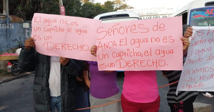Cierran carretera Panamericana en protesta por falta de agua