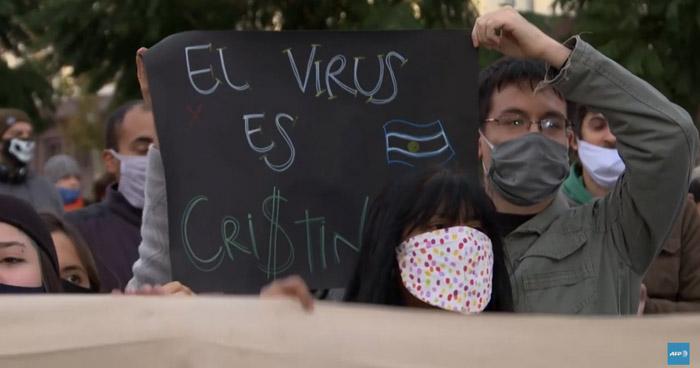 Protesta en Argentina por extensión del confinamiento obligatorio