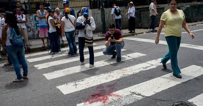 Sube a 5 la cifra de muertos durante protestas en Venezuela