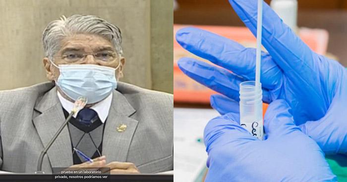 Norman Quijano pide se paguen pruebas de COVID-19 en Laboratorios Privados para diputados