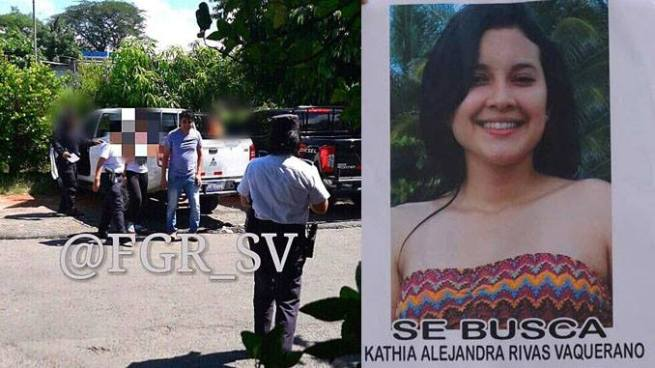 Autoridades recuperan a Kathia Rivas en Quezaltepeque, La Libertad