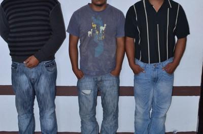 Tres capturados por diferentes delitos en Chalatenango